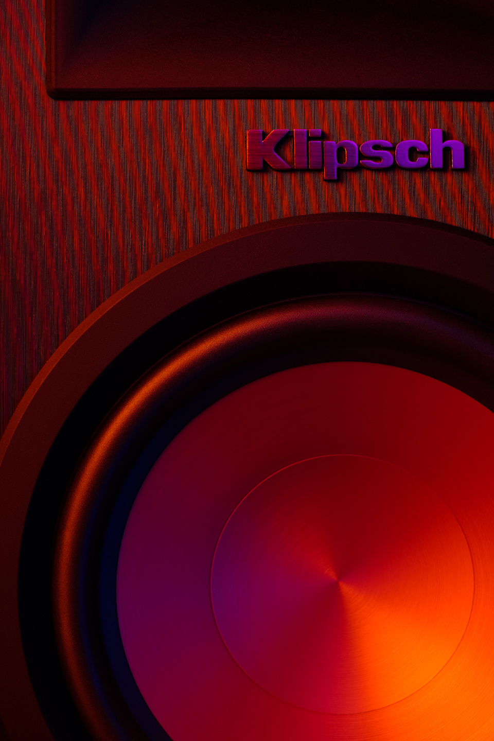 Light painted Klipsch speaker