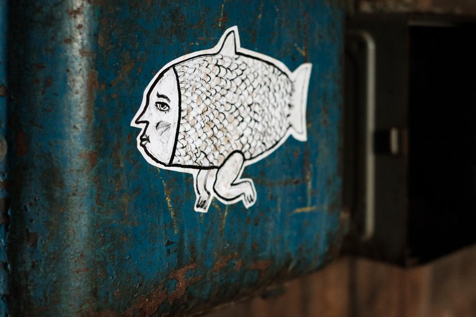A merman sticker