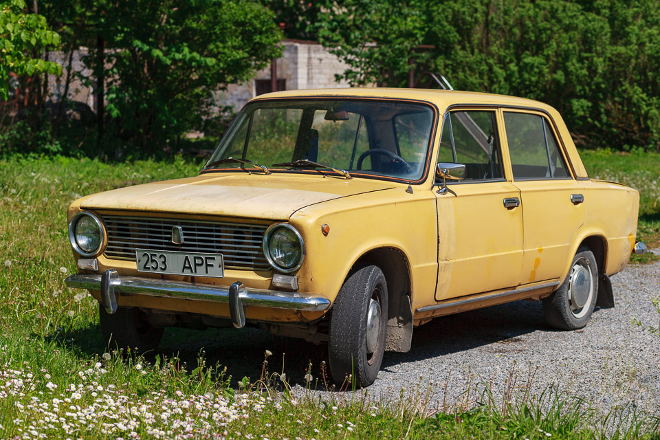 Old yellow Lada.